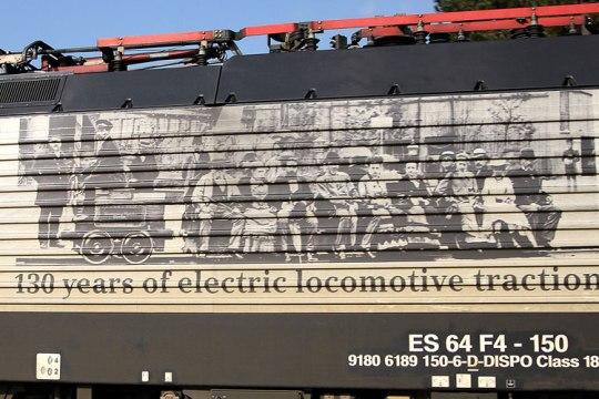 Siemens 130 anni trazione elettrica - dettaglio